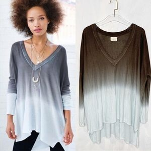 Pins and Needles UO Ombre Oversized V Neck Tunic